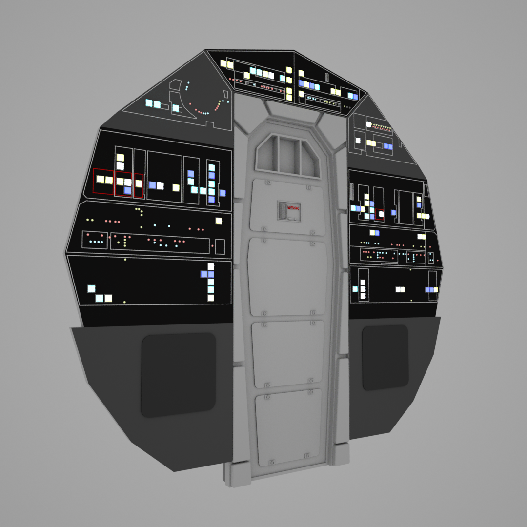 Cockpit Back Wall